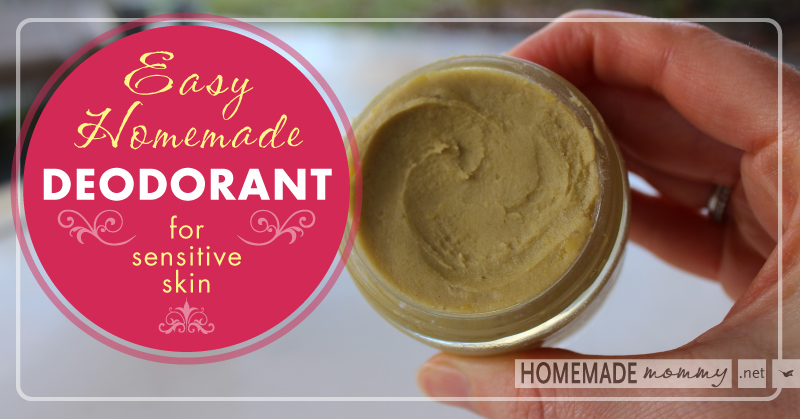Easy Homemade Deodorant for Sensitive Skin | www.homemademommy.net