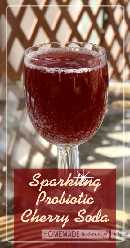 Sparkling Probiotic Cherry Soda | www.homemademommy.net