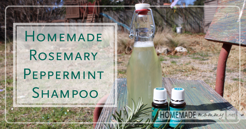 Homemade Rosemary Peppermint Shampoo