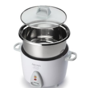 Aroma Housewares Stainless Steel 6-Cup Cooked Rice Cooker